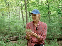 Sue Van Hook with mushroom
